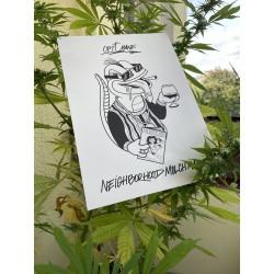 """Neighborhood Molch Mane"" - Art Print"